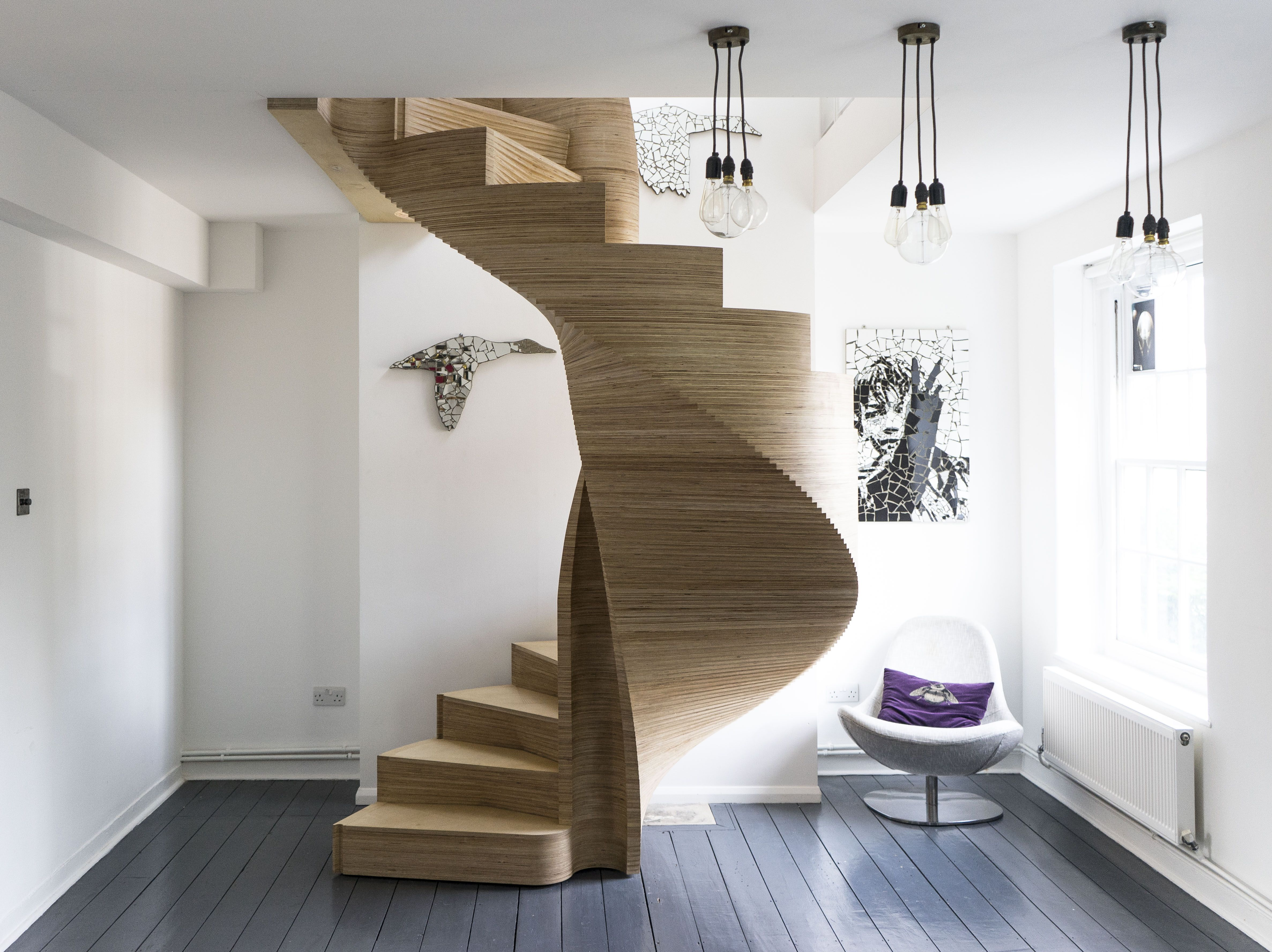 Best Cnc Staircase By Aj B Works Nominated In The Wood Awards 400 x 300
