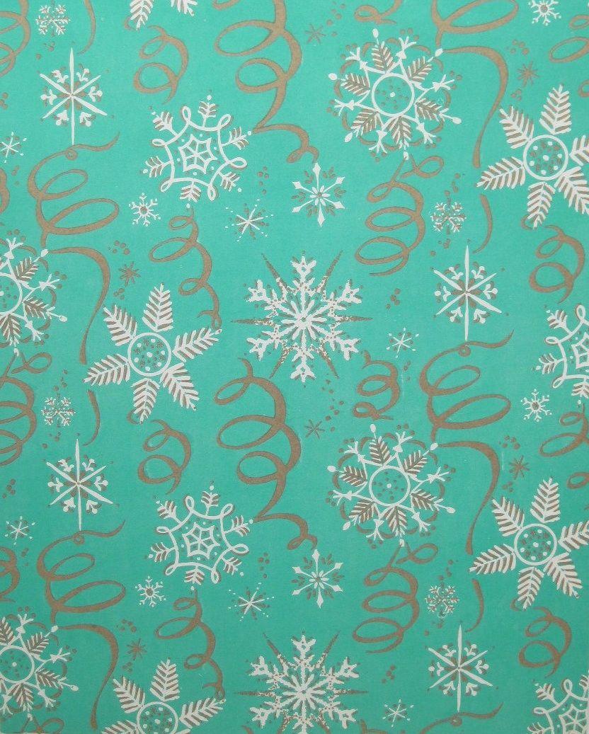 Vintage Snowflake Gift Wrap