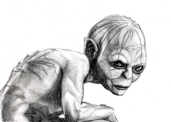 Gollum by jenj on DeviantArt   Coloriage TOLKIEN   Pinterest