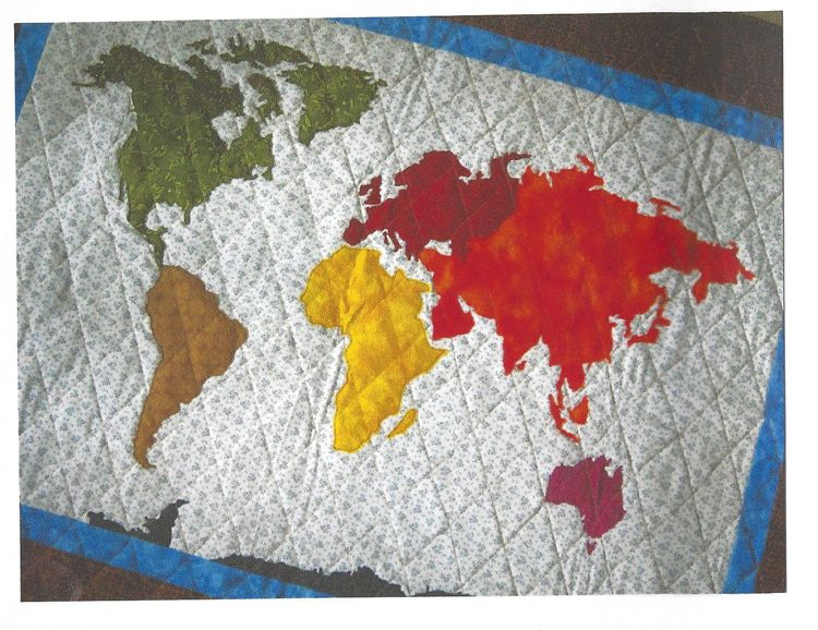 World Map Quilt Pattern Map quilt, Pdf and Patterns - best of world map fabric bunting