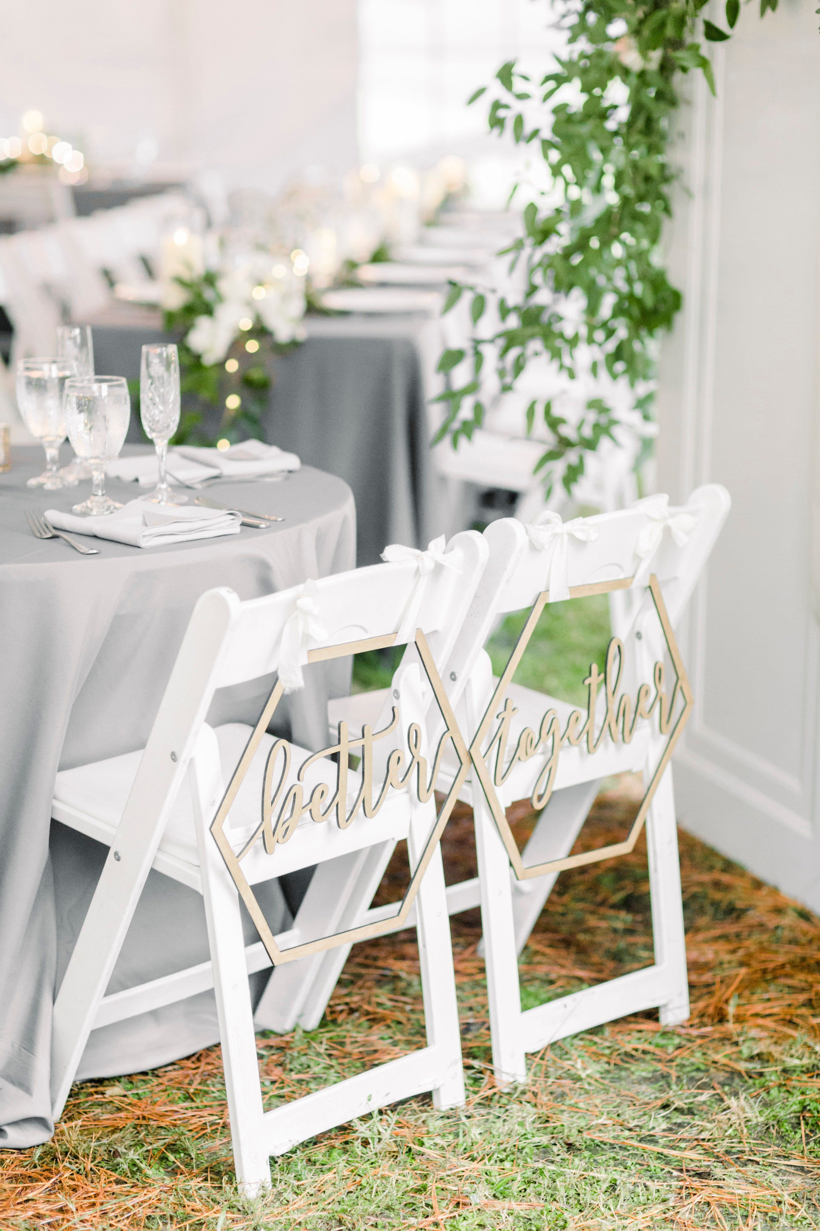 Prime Hexagon Wedding Chair Signs Geometric Better Together For Pdpeps Interior Chair Design Pdpepsorg