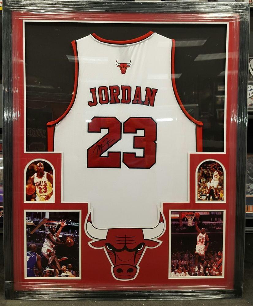 low priced 87036 8bd57 michael jordan signed framed jersey