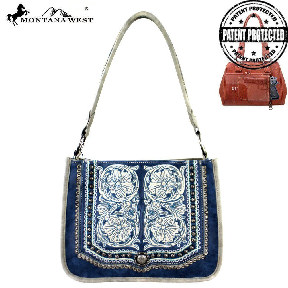 MW337G-8391 Montana West Concho Collection Concealed Carry Tote Bag
