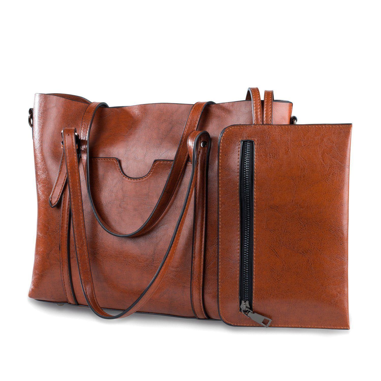 Women Bag Casual Vintage Shoulder Bag Handbags Cross Body Bag Large  Capacity Brown Bags Tote Purse 132a5b85e5493