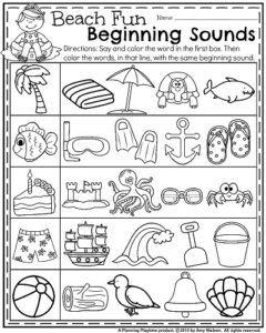 Summer Kindergarten Worksheets | Klasse, Wasser und Kind