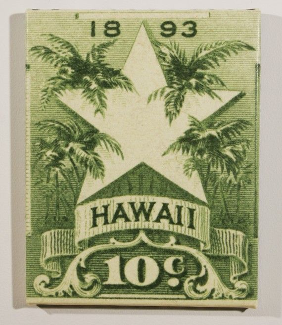 alms and Star of Hawaii Postage Stamp Enlarged on Canvas