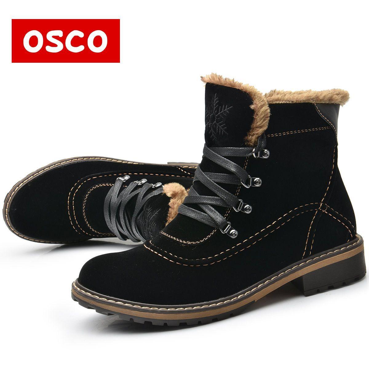 31 81 Osco Buty Damskie Buty Zimowe Buty Damskie Cieple Buty Sniegowe Moda Zamszowe Buty Futro Czarny B Fur Ankle Boots Winter Shoes For Women Womens Boots