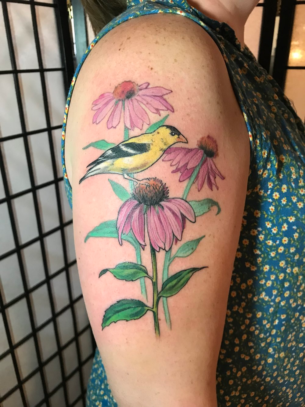 Coneflower Bee Tattoo Google Search In 2020 Bee Tattoo Tattoos Watercolor Tattoo