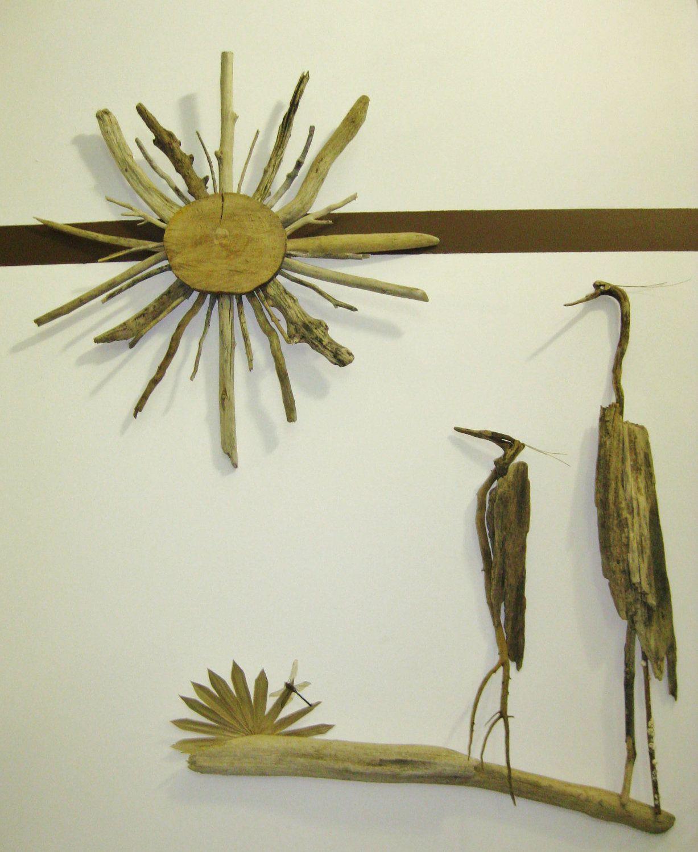 Driftwood Bird & Sun Setting Sculpture sold as a by DriftingIdeas, $279.99