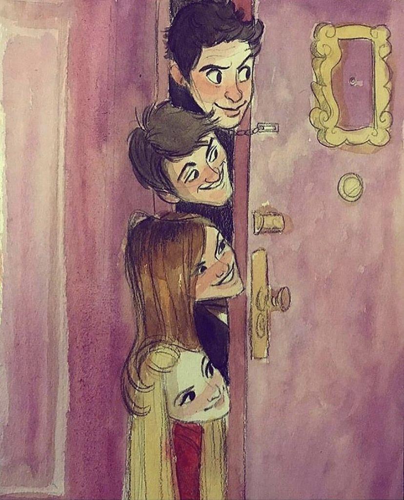 Pin by fatima zahra atmani on Dessin Friends sketch