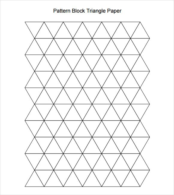 Pattern Block Triangle Paper  Math St    Pattern