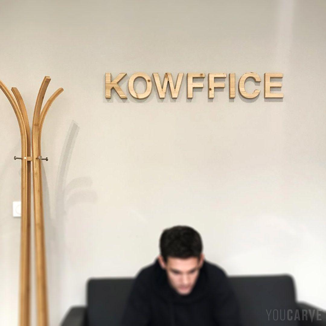 9 Lettre Projet Professionnel Fongecif: Projet Réalisé Par KOWFFICE : Enseigne Intérieure, Logo