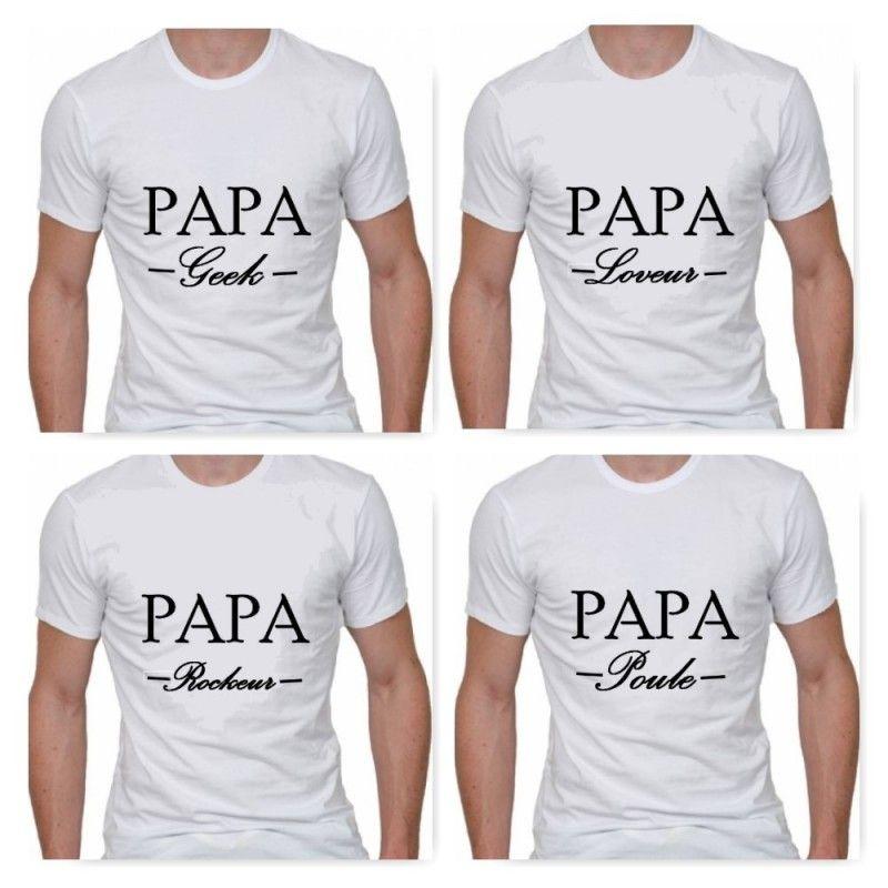 """Top T-shirt pour homme """"PAPA -Texte au choix-"""". T-shirt  TV91"""