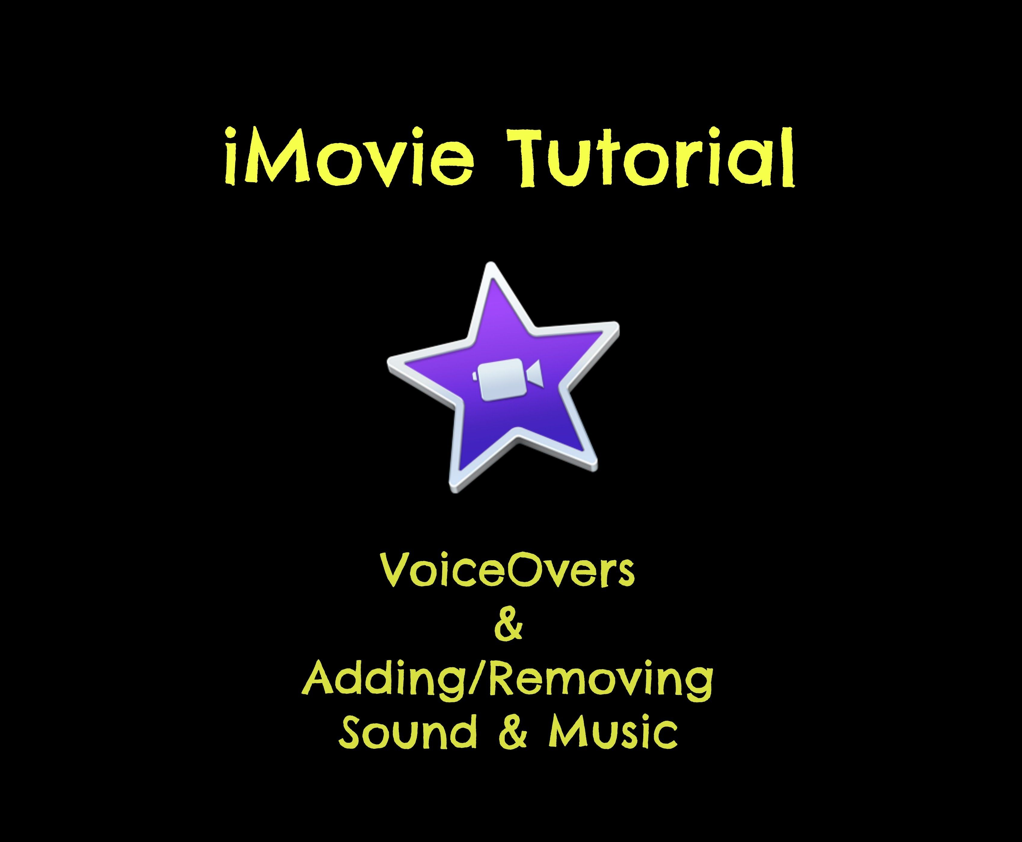 Imovie video tutorial creating a voiceover dropping