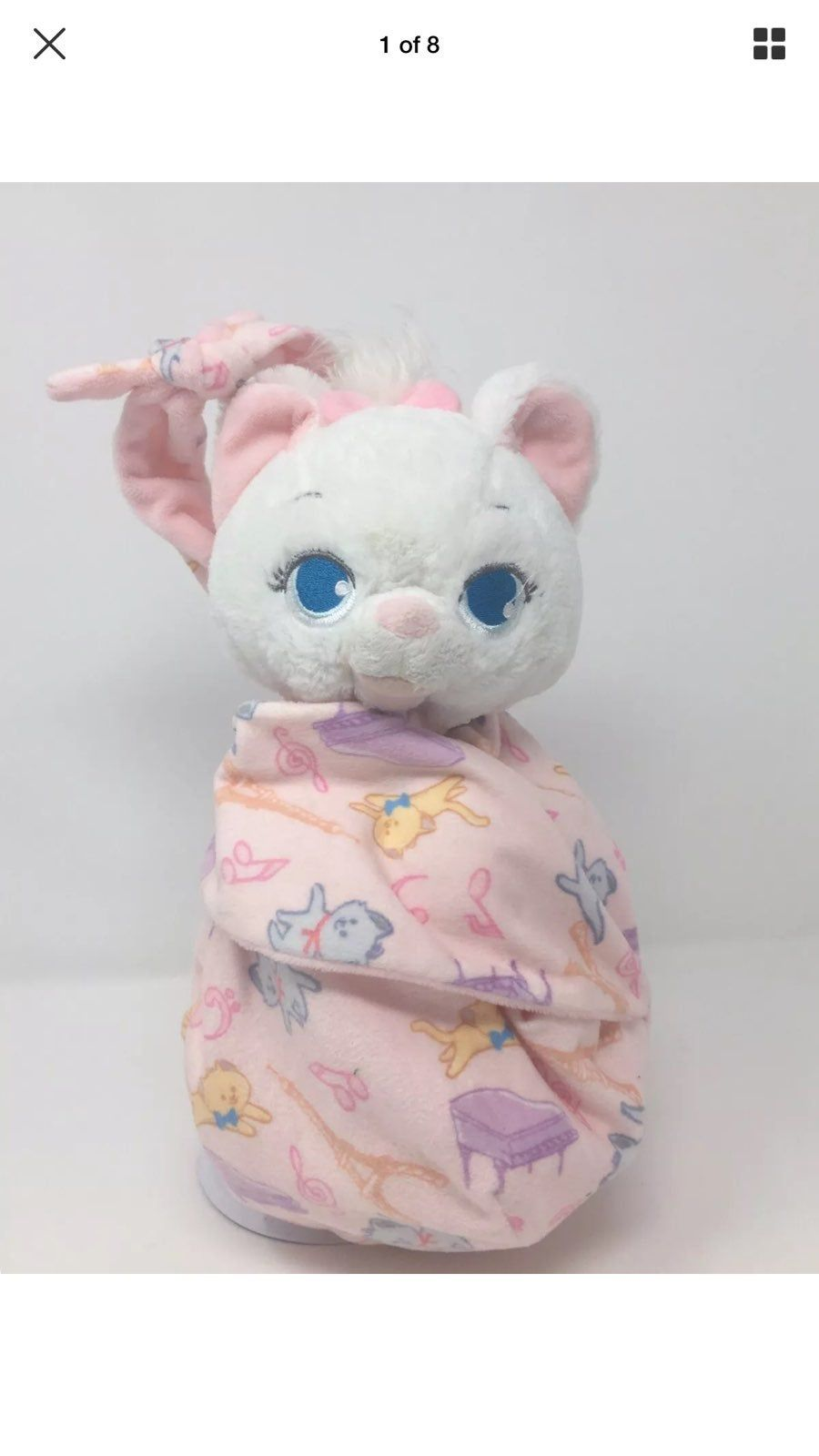 Disney Parks Baby Marie in a Blanket Pouch Plush New with Tags