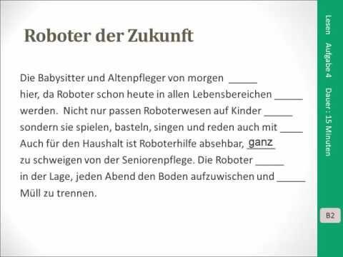 Goethe Zertifikat B2 Lesen Aufgabe 4 Deutsch Global Deutsch