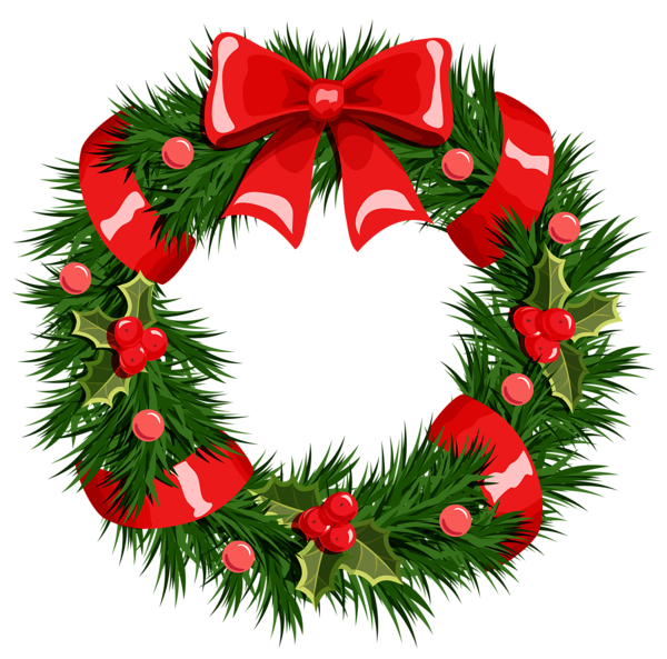 Image result for christmas wreath clipart