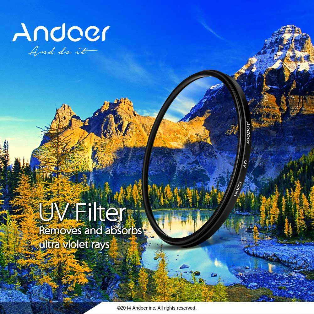 Nouveau andoer 58mm uv. ultra- violet filtre protecteur lens pour nikon canon…