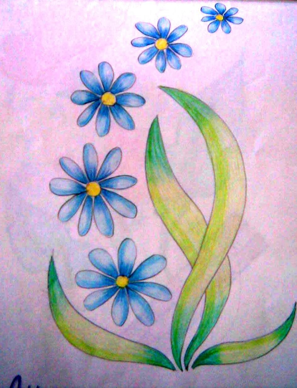 Simple Colored Pencil Drawings