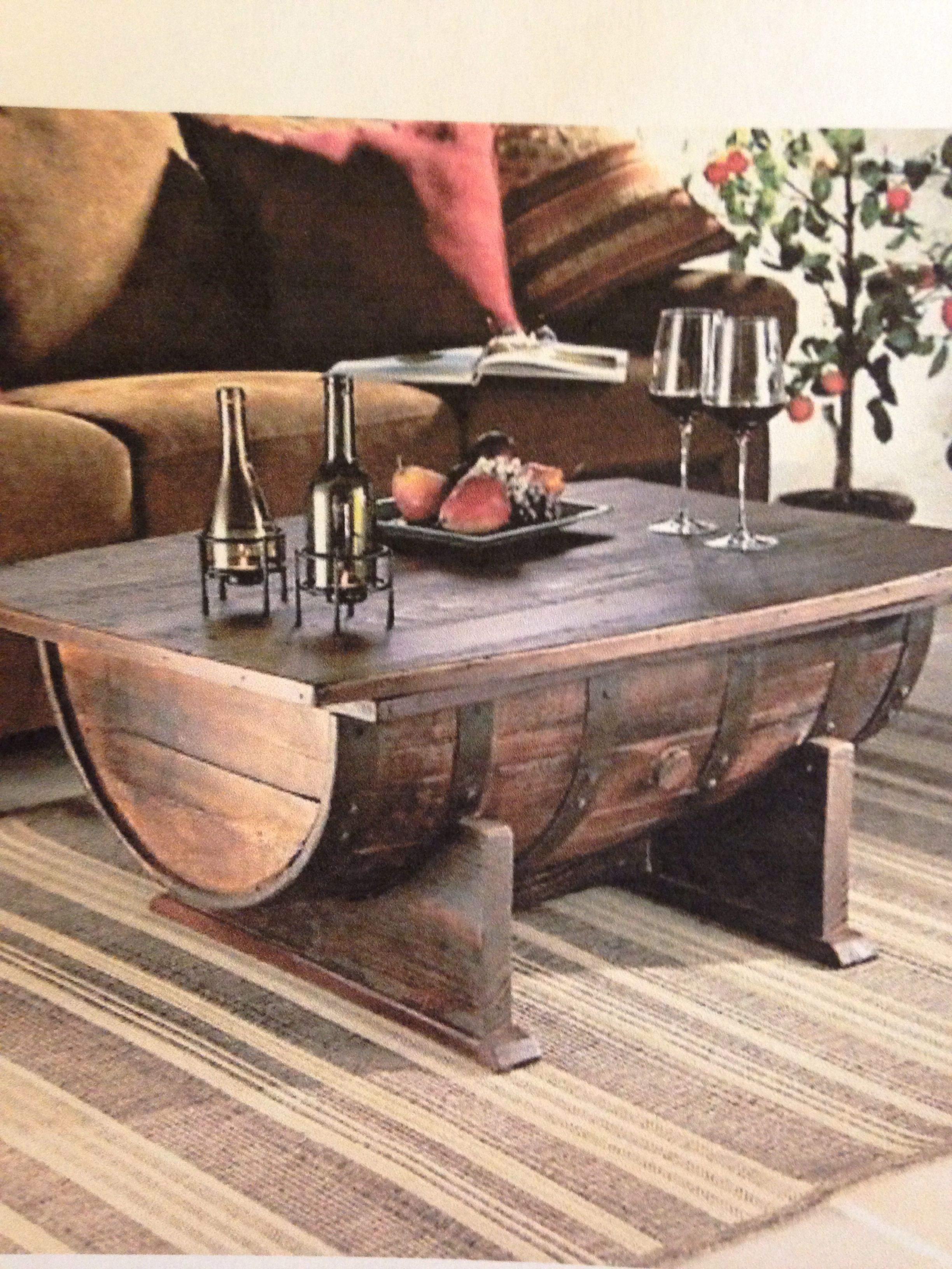 Half Wine Barrel Living Room Table Barrel Coffee Table Eclectic