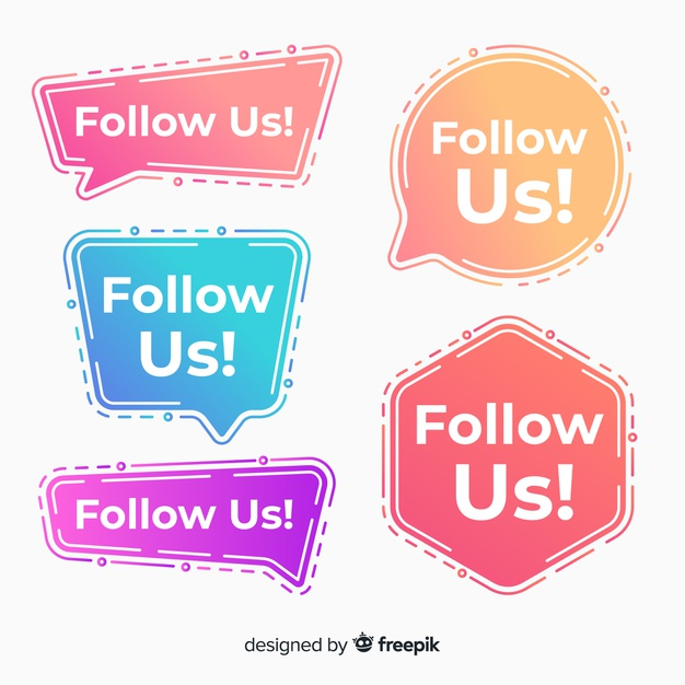 Download Gradient Follow Us Background For Free Vector Free Vector Free Download Freepik