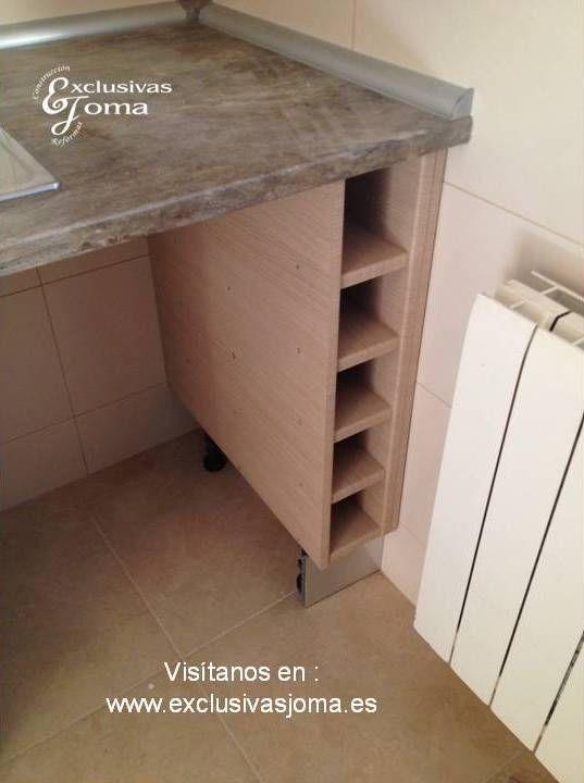 Muebles de cocina a medida en madera color haya jaspeado, con ...