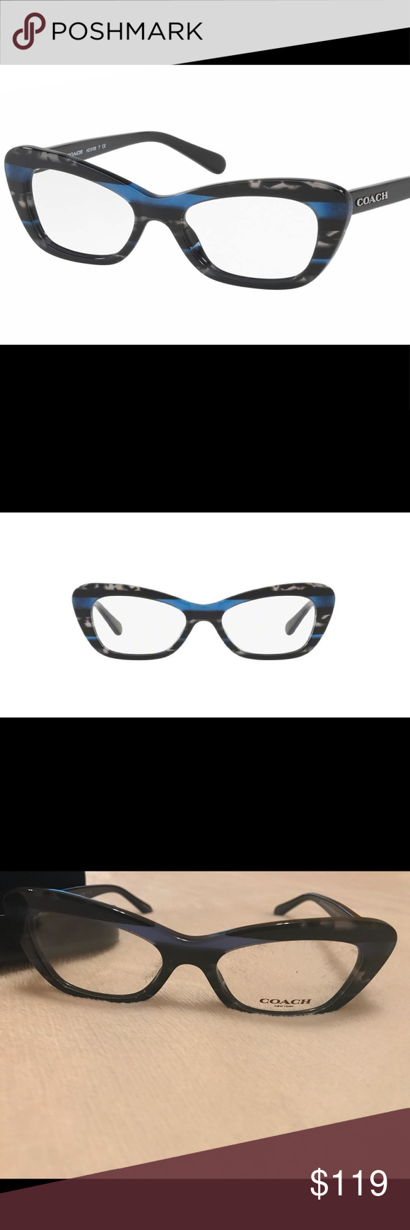 COACH Eyeglass frames (women\'s) | Blue glitter, Silver glitter and ...
