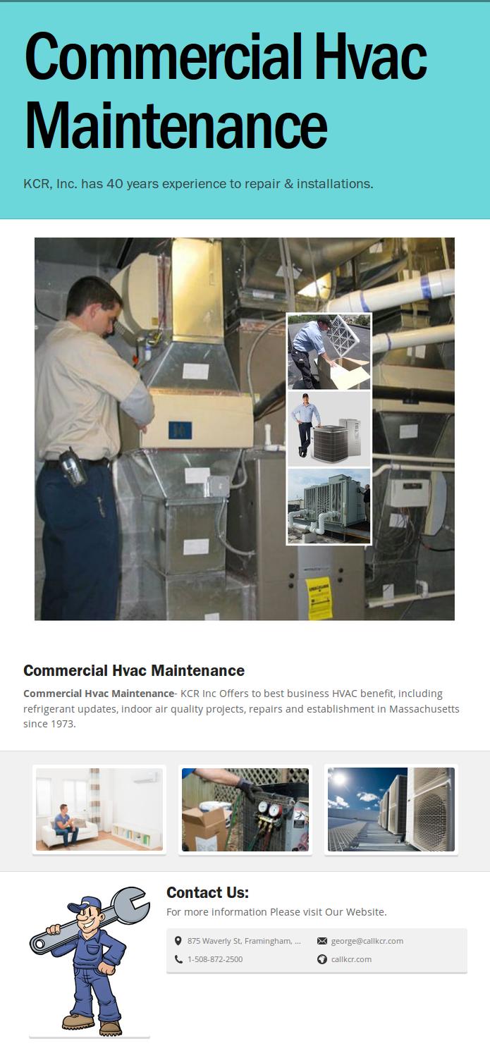 Commercial HVAC Maintenance KCR, Inc. Hvac maintenance