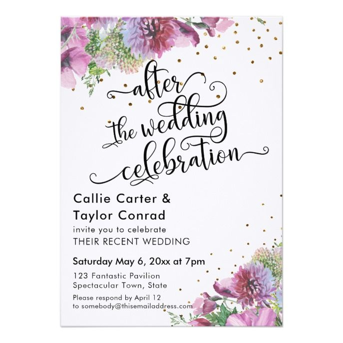 Celebrity Wedding Invites: After The Wedding Celebration Wildflower Confetti