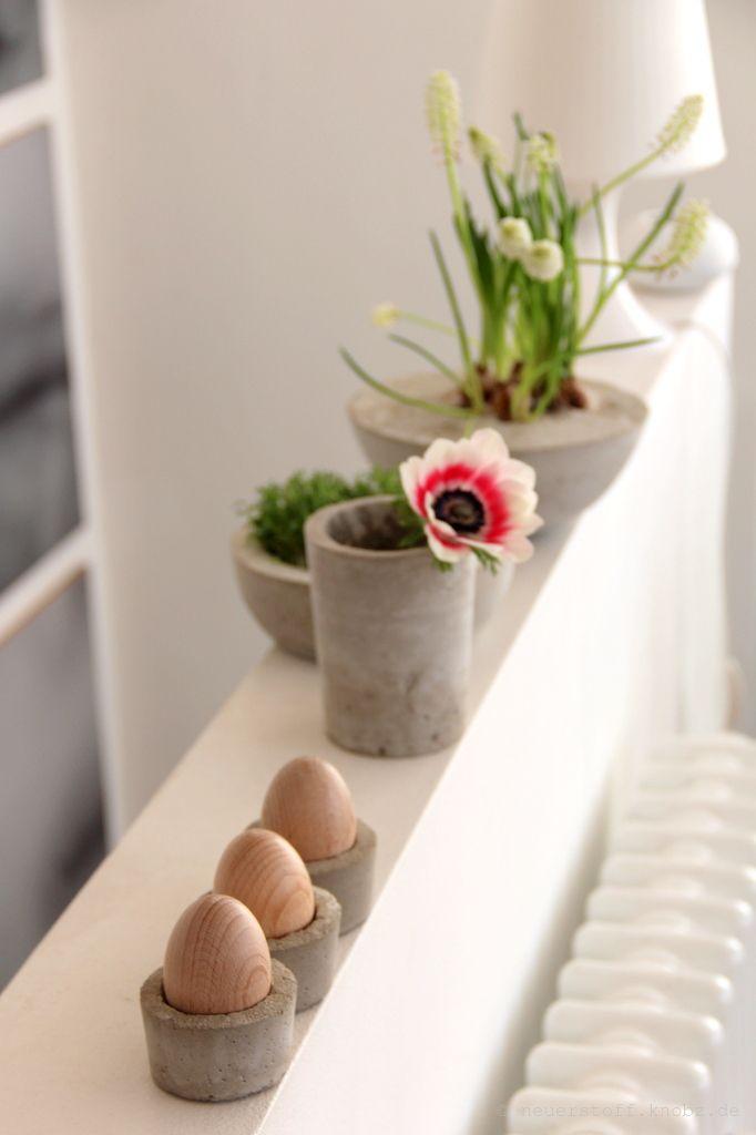 Beton DIY  Gefässe selber machen Selber machen, Beton diy und - wohnung dekorieren selber machen