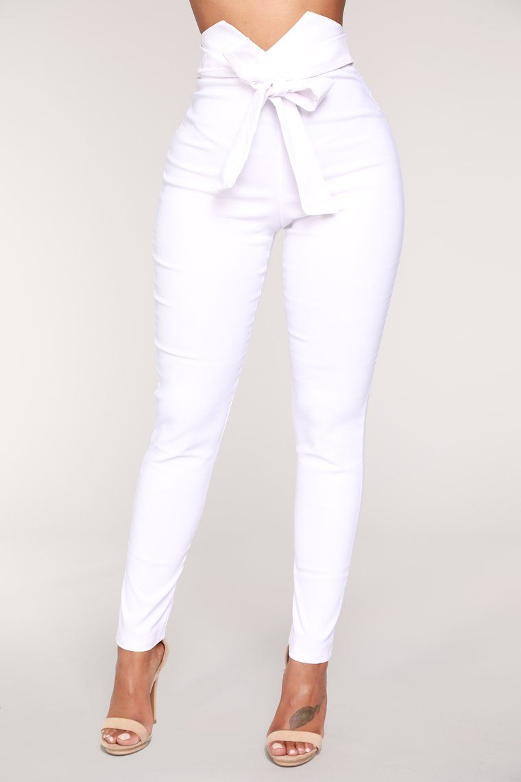 2ad65a8446 Knot Your Girl Pants - White en 2019