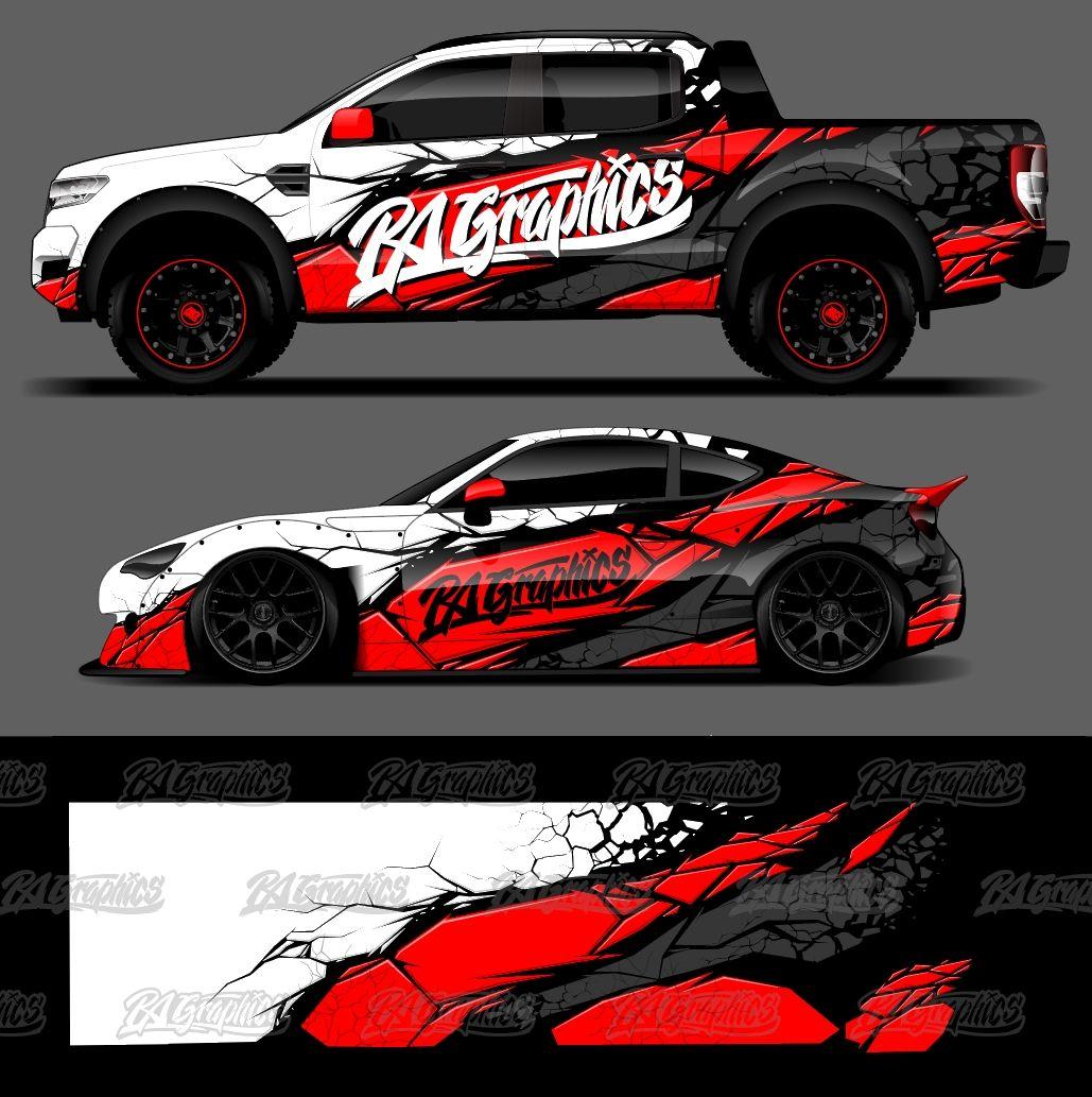 RA Graphic Pack 19 in 2020 Car sticker design, Car wrap