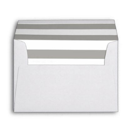 Clic Silver Striped Lined Envelope Wedding Printed Mailing Envelopes