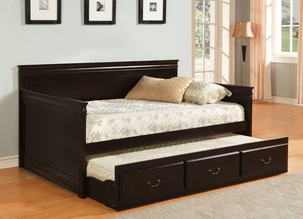 Furniture Of America Sahara Espresso Twin Trundle Daybed Daybed