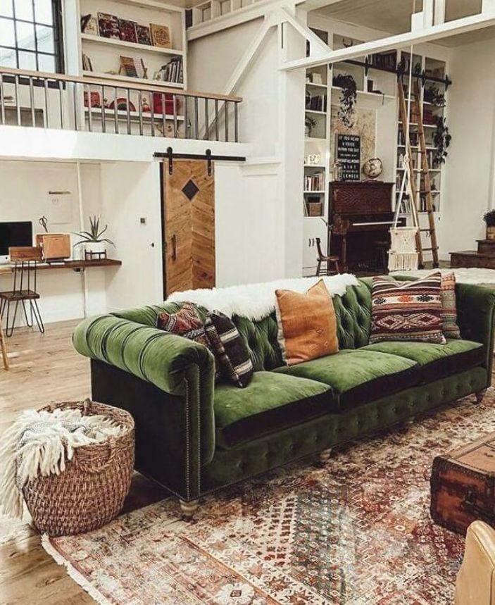 decoracao minimalista industrial nordroom velvet barn sofa
