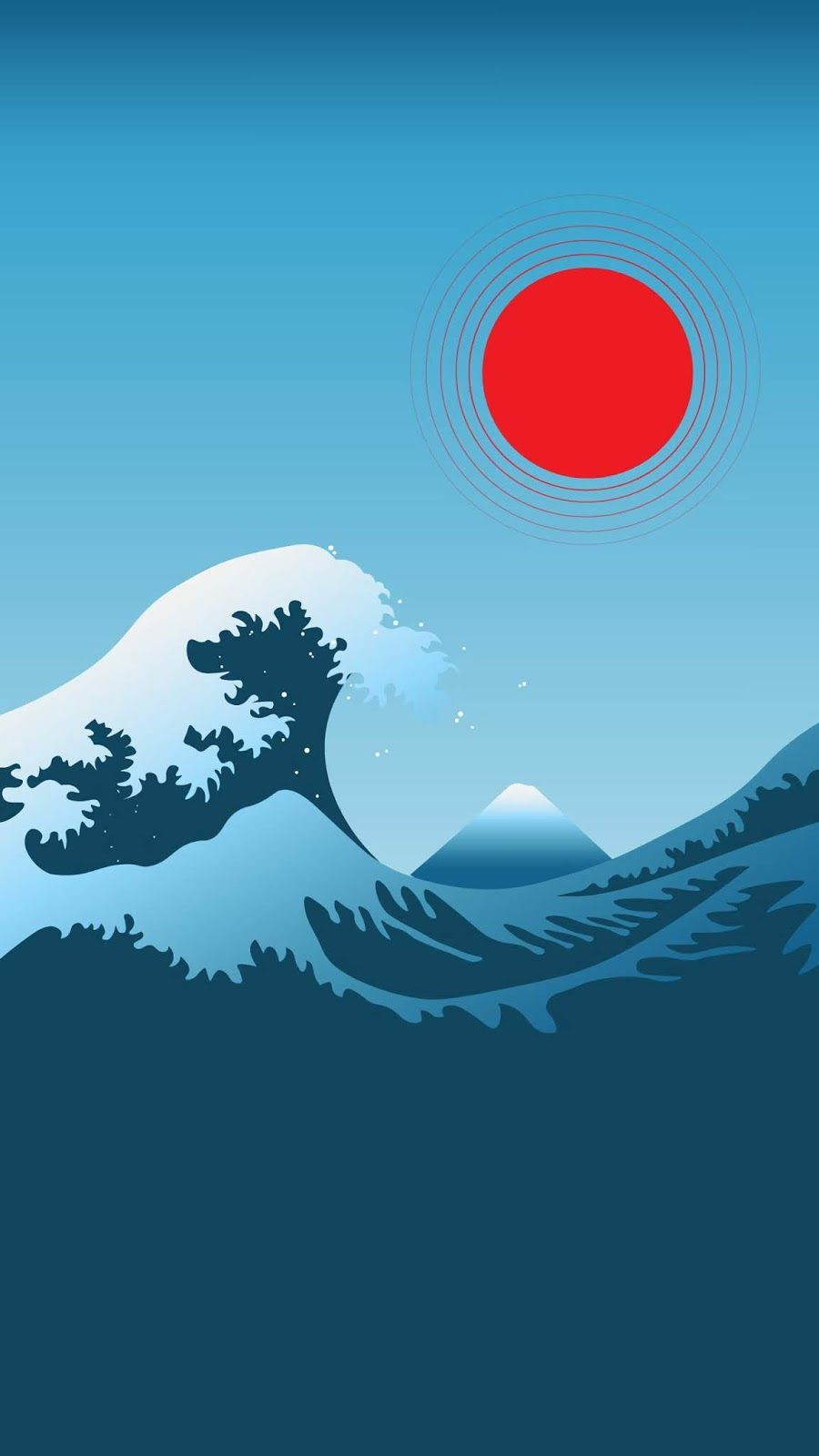 Minimalism Great Wave Off Kanagawa Wallpaper Iphone Android Background Followme Waves Wallpaper Iphone Waves Wallpaper Aesthetic Iphone Wallpaper