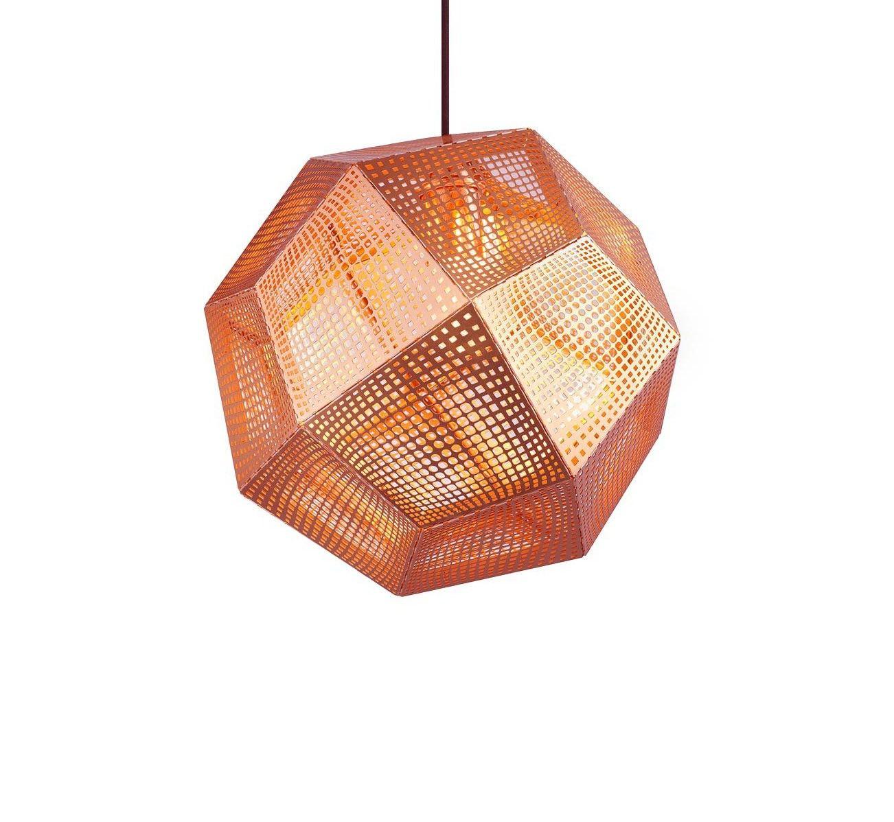 Tom dixon mid copper etch pendant light etch pendants are inspired