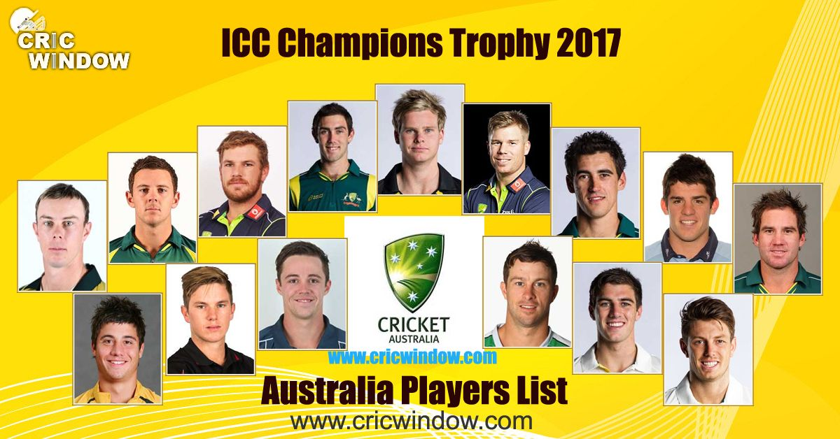 Australia Squad For Champions Trophy 2017 Cricwindow
