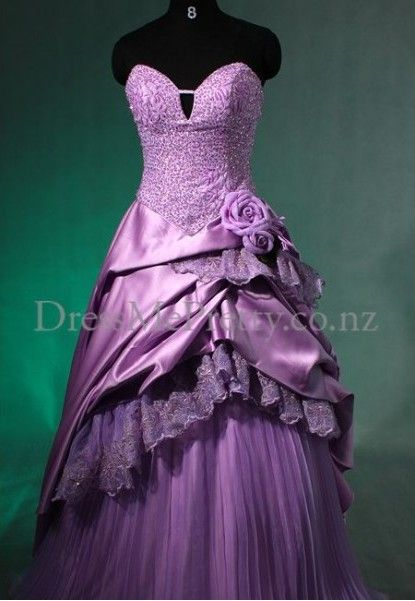 Purple wedding ball gown