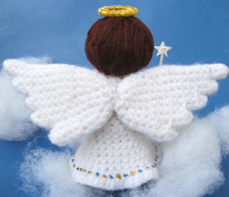 Amigurumi Angel Crochet Pattern Pdf Christmas Tree Decor Handmade Fairy