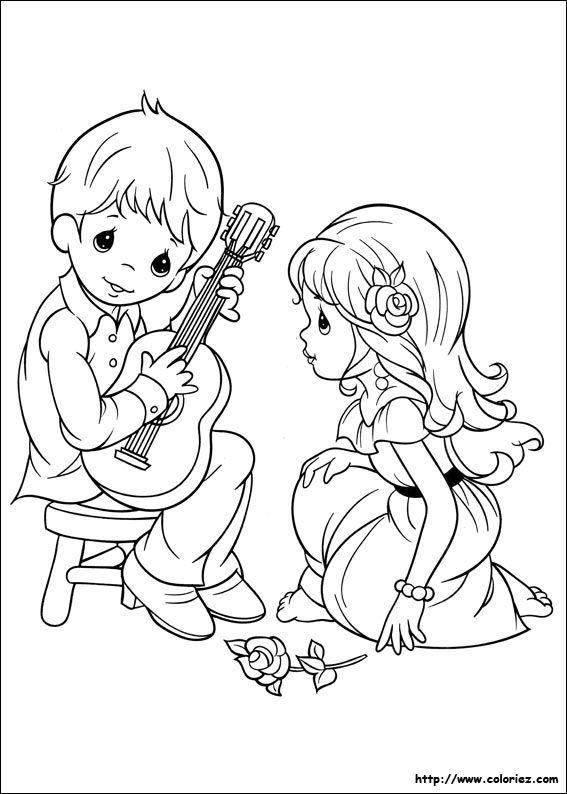 Couple Musicien Paginas Para Colorir Adult Coloring Pages