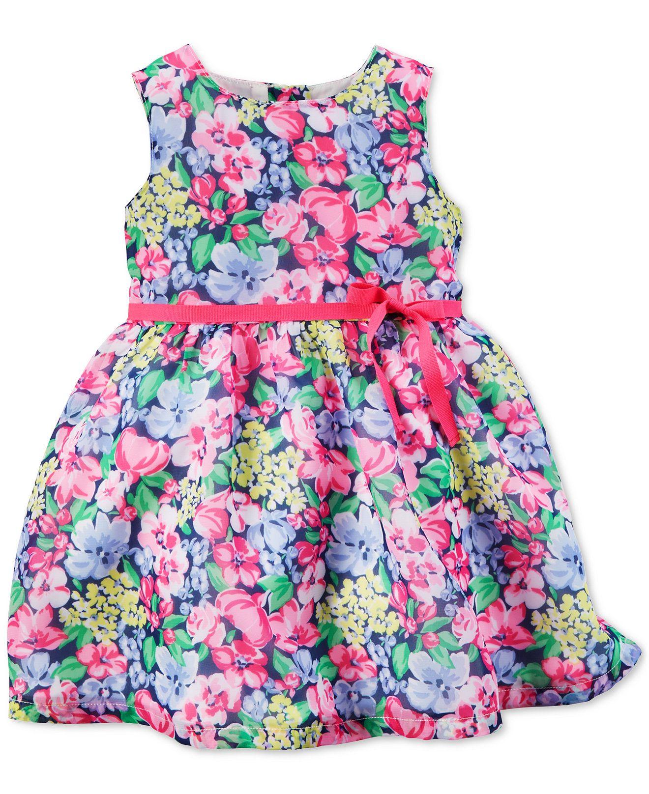 Carter s Baby Girls Floral Print Dress Kids & Baby Macy s