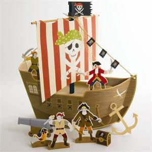 #Little boys birthday party decorations and favors.  Meri Meri Pirate Ship Table Centrepiece