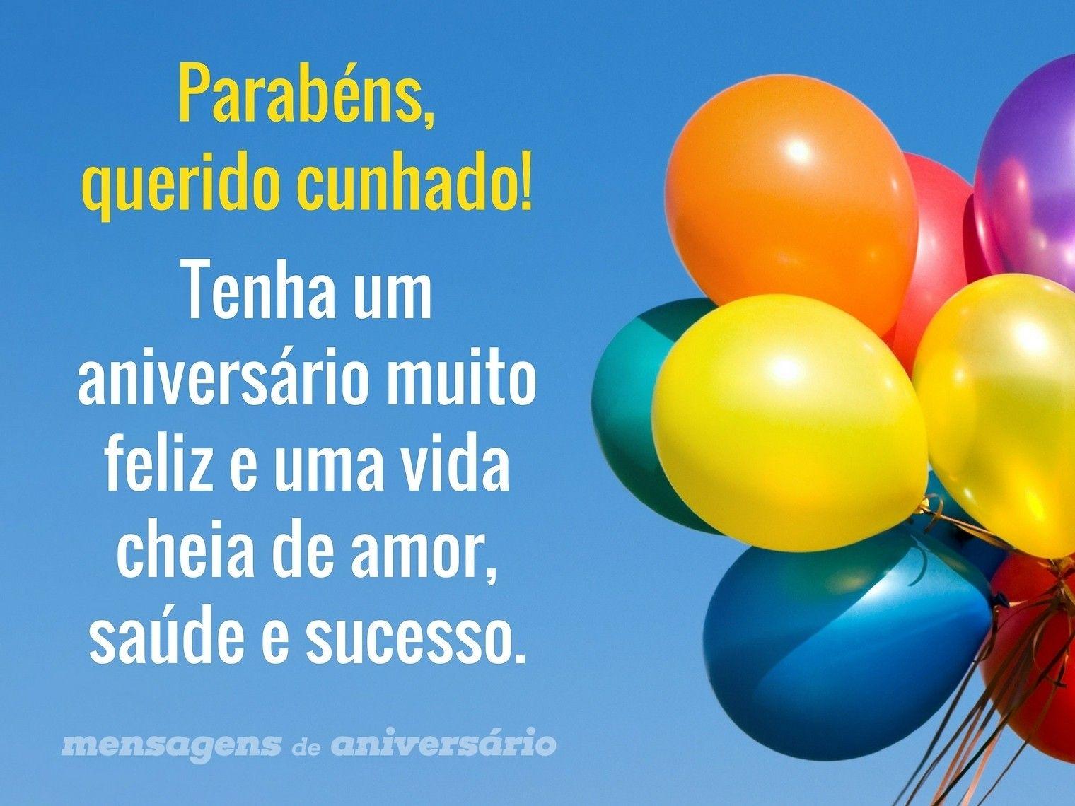 Feliz Aniversário Cunhada: Parabéns, Querido Cunhado