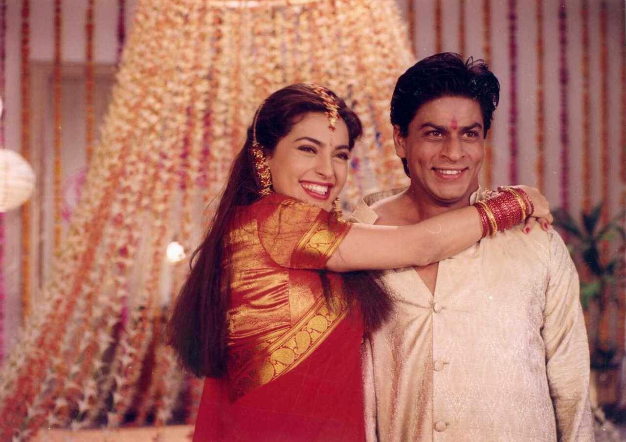 Srk With Juhi Chawla Bollywood Celebrities Shah Rukh Khan Movies Bollywood Actress