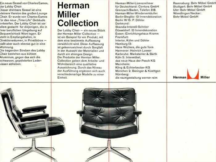 display herman miller advertisement otl aicher two. Black Bedroom Furniture Sets. Home Design Ideas