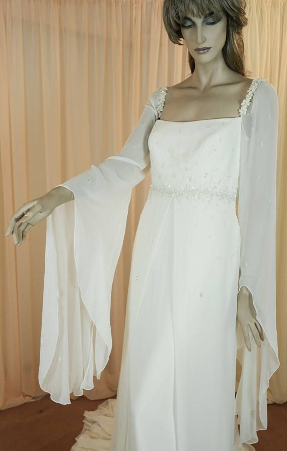 Wedding Dress 90s - Elegant vintage ivory wedding dress - Empire ...