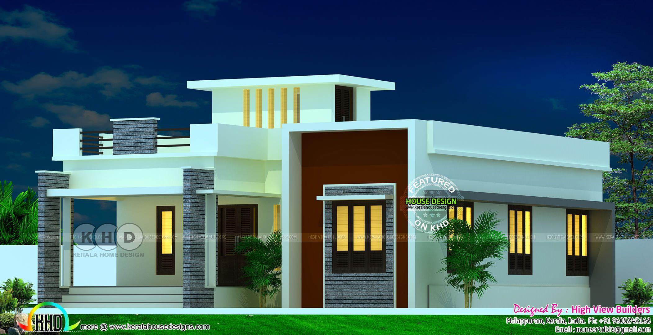 Single Floor 2 Bedroom Attached House Design Kerala House Design Single Floor House Design Duplex House Design