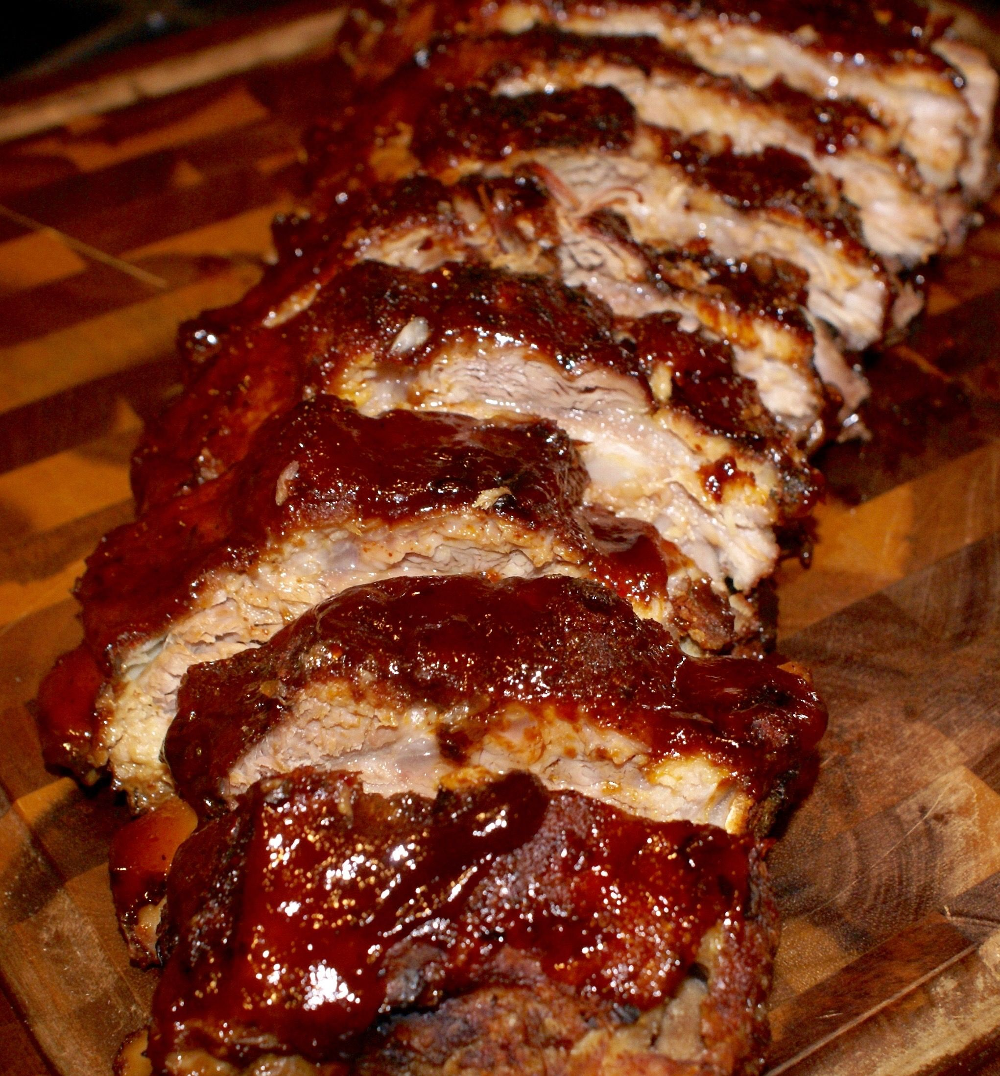 Easy Oven Bbq Baked Ribs Recipe Butter Your Biscuit Recipe Baked Ribs Baked Ribs Recipe Easy Oven Baked Ribs