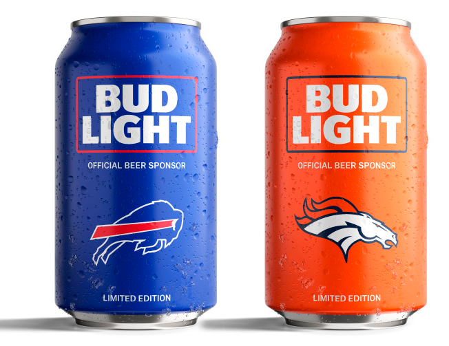 Bud Light S Popular Nfl Team Cans Are Back With A New Minimalist Design Bud Light Bud Light Can Bud Light Beer